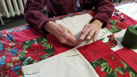 December 7, 2017-BSDAC-Prayer Quilt Ministry-Pictures were taken today of a few prayer quilt team members. The Prayer Quilt Ministry program meets on the 3rd floor of the Brainerd Senior Center on Monday
